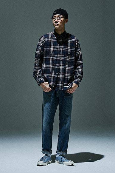 Sealion - Flannel Check Shirts [Navy]
