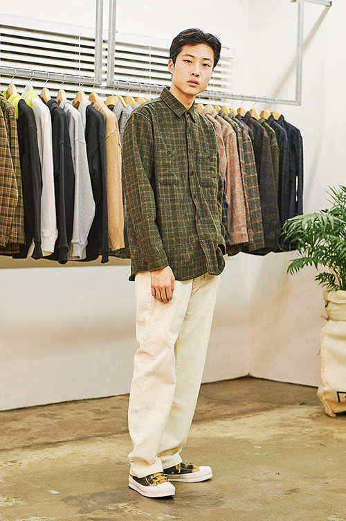 Regular Fit Corduroy Pants [Ivory]