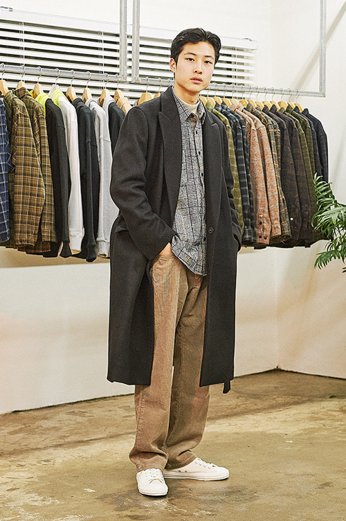 Regular Fit Corduroy Pants [Beige]