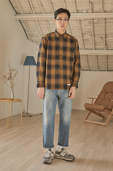 Alternate Check Shirts [Mustard]