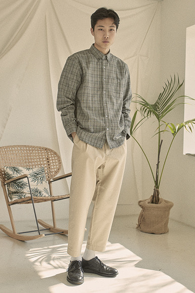 Easy PK Check Shirts [Grey]