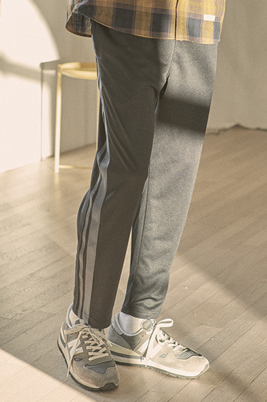 Double Tape Track Pants [Black/Charcoal]