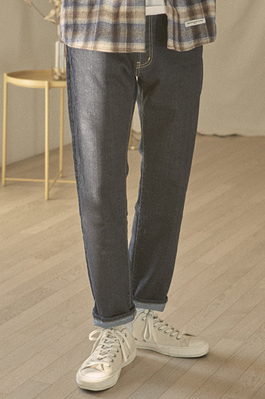 Ankle Cut Indigo Denim Pants