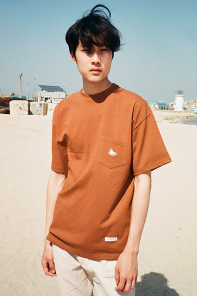Sealion Single Pocket T-Shirts [Brown]