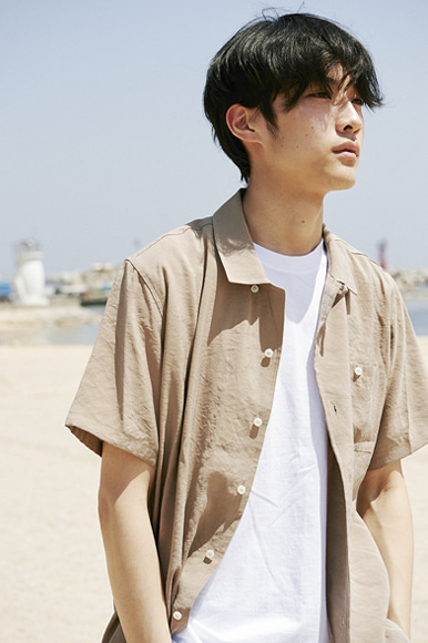 Cupra Open Collar Shirts [Beige]