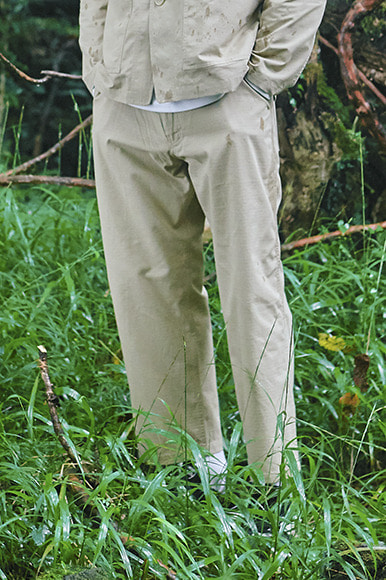 Rip-Stop Set Up Pants [Beige]