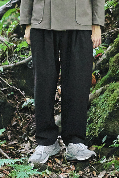 Comfortable Set Up Pants [Black]