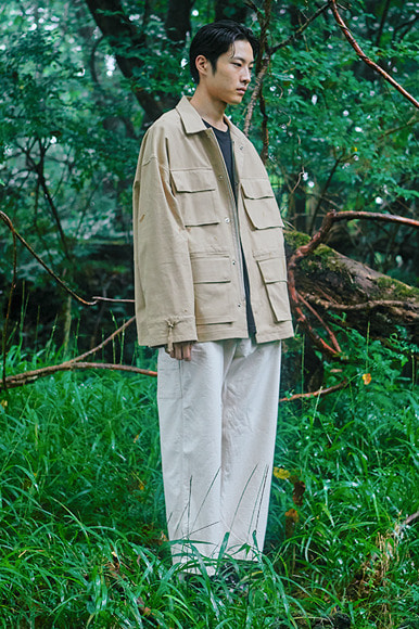 Multi Slab Safari Jacket [Beige]