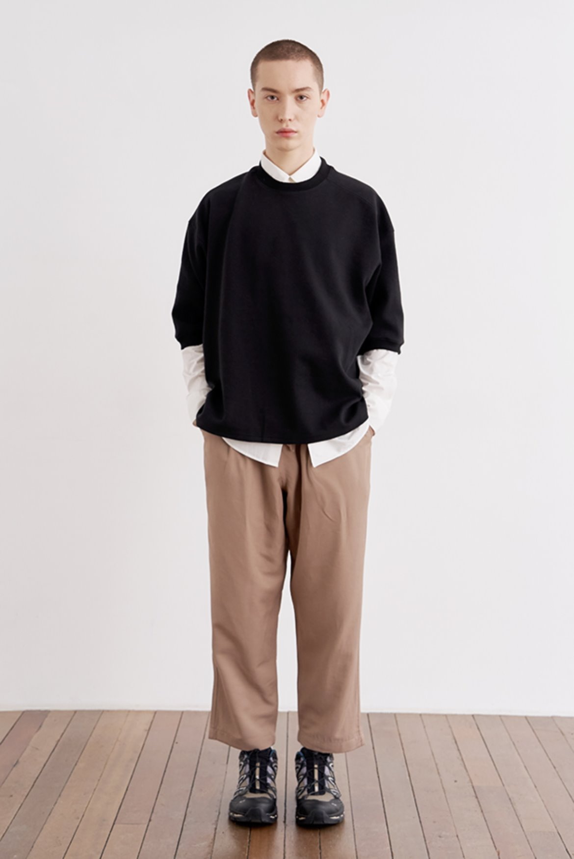 Cupra Two Tuck Crop Pants [Boston Khaki]