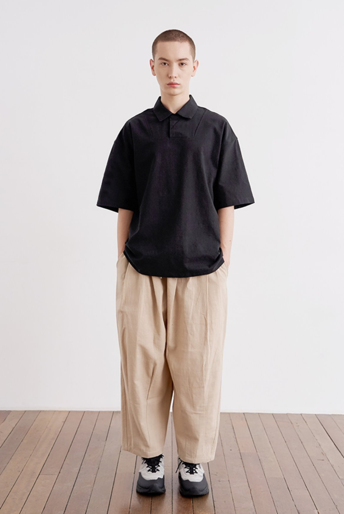 Linen Easy Balloon Pants [Beige]