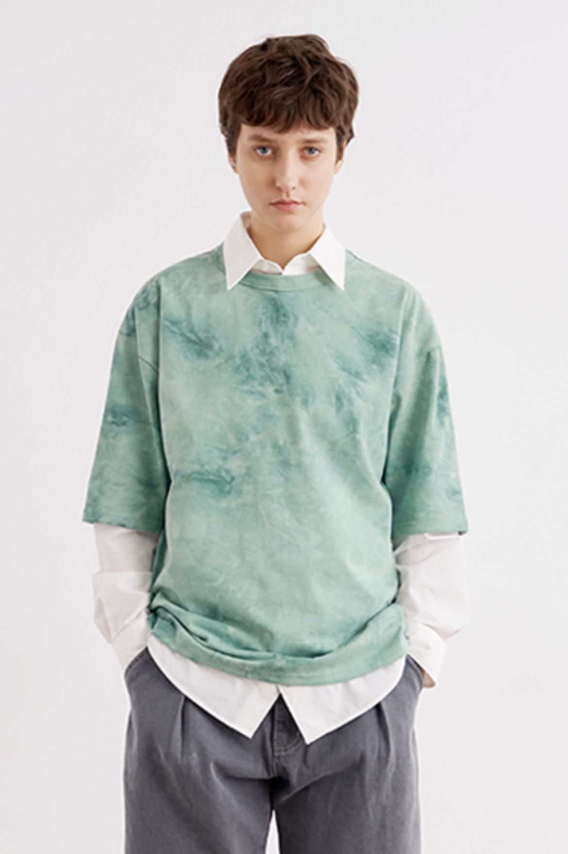 Oversize Water Washed T-Shirts [Mint]
