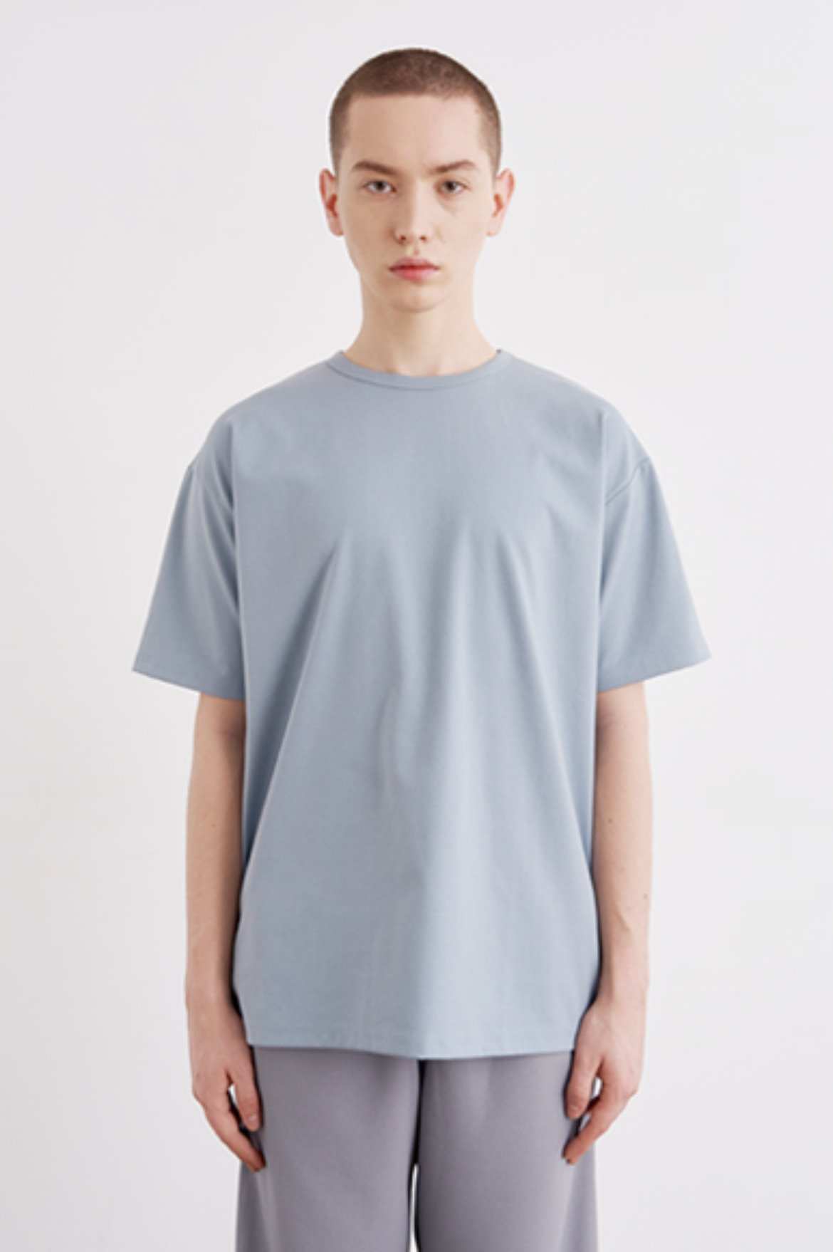Cool Touch Regular Fit T-Shirts [Light Blue]