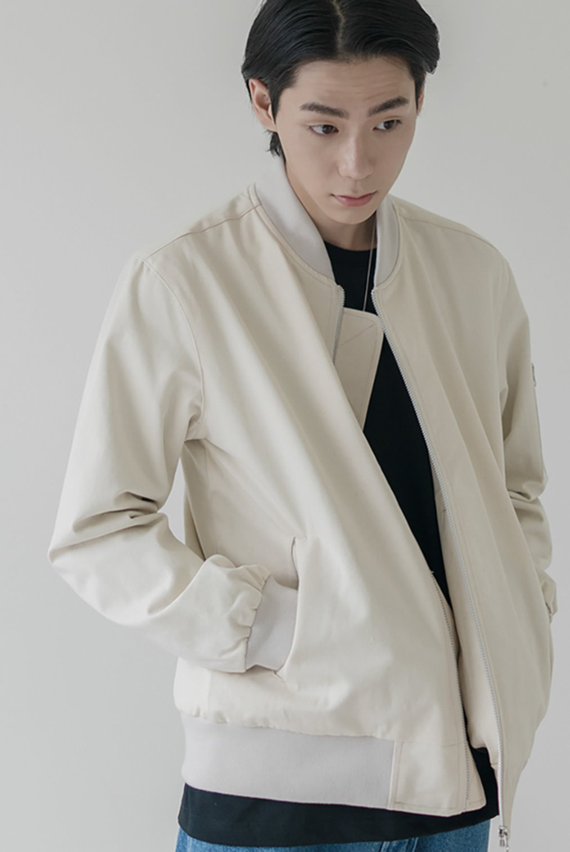 MA-1 Cotton Twill Jacket [Egg White]
