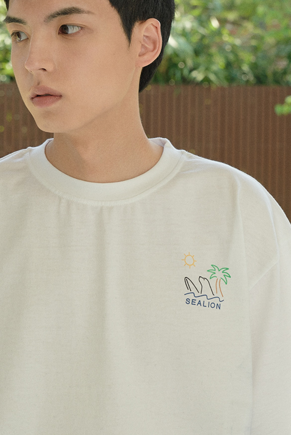Sealion Surf T-Shirts [White]