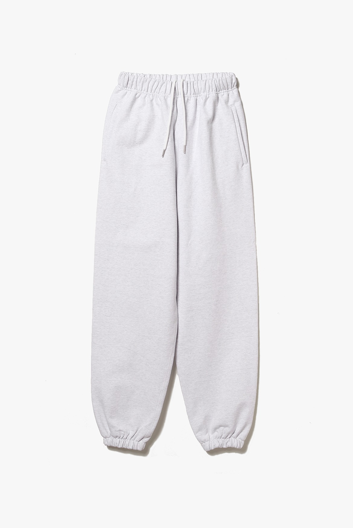 Classic Wide Sweat Pants [White Grey]