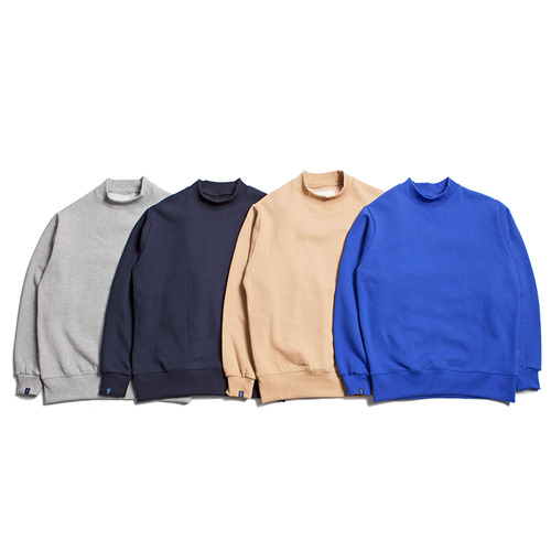 "XERO - High Neck Sweatshirts ""4 Colors"""