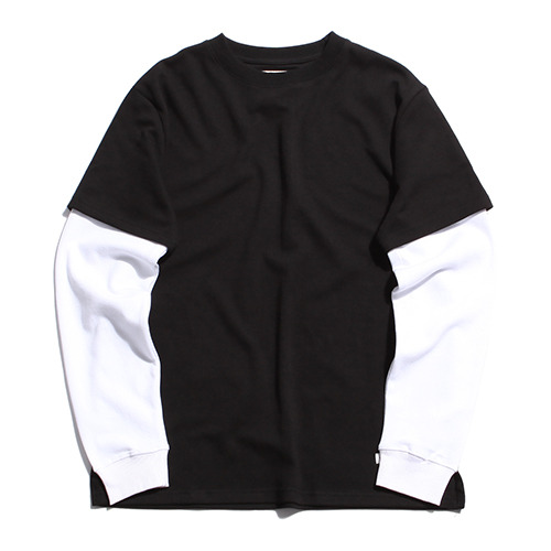 "XERO - Layered T-Shirts ""Black / White"""