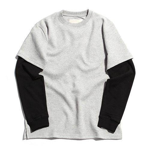 "XERO - Layered T-Shirts ""Grey / Black"""