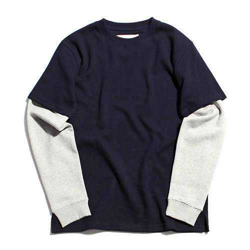 "XERO - Layered T-Shirts ""Navy / Grey"""