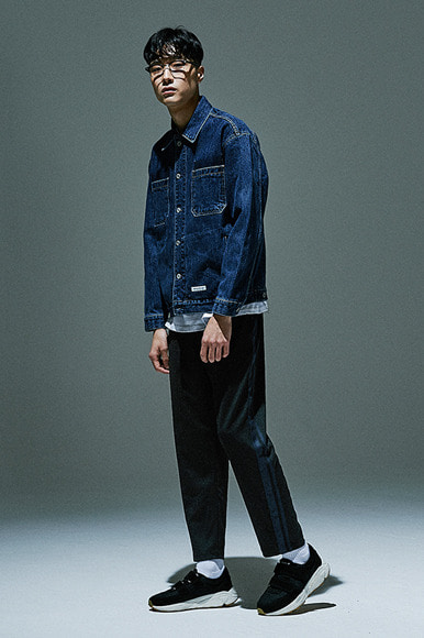 Double Tape Track Pants [Black/Navy]