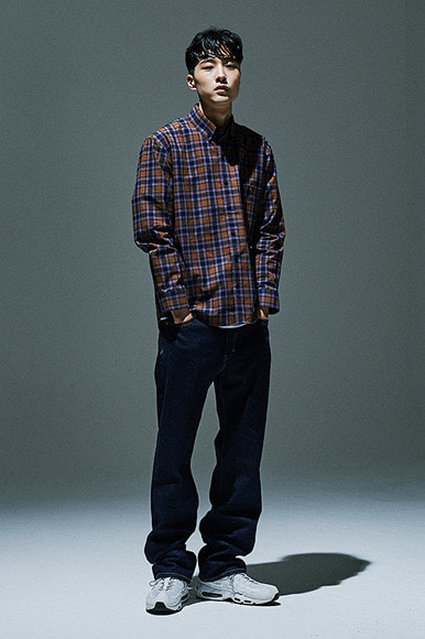 Pale Line Check Shirts [Brown]