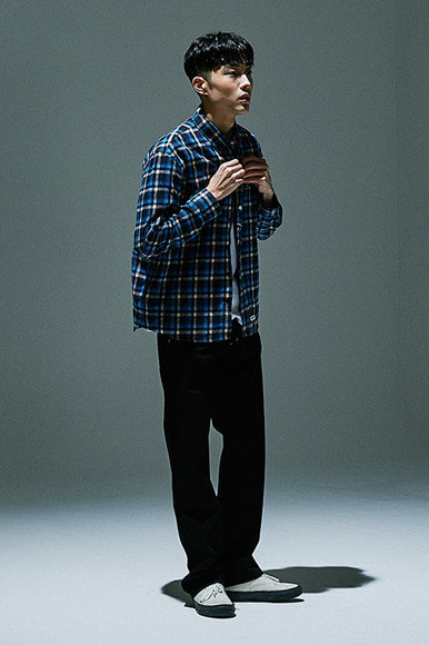 Square Check Shirts [Blue]