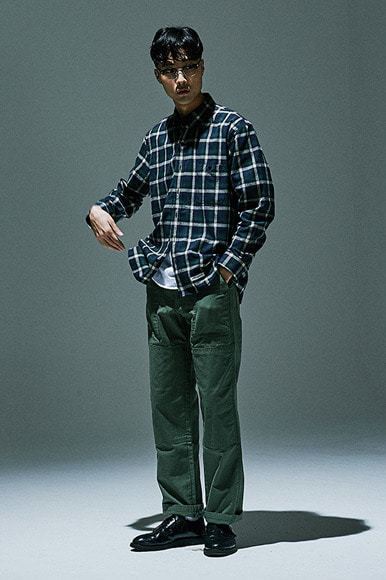 Square Check Shirts [Green]