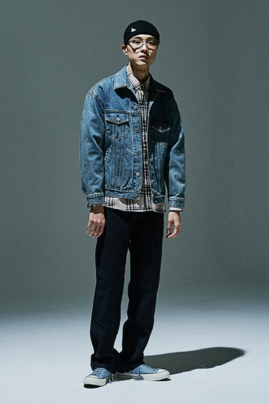 Oversized PB Denim Jacket [Vintage Blue]