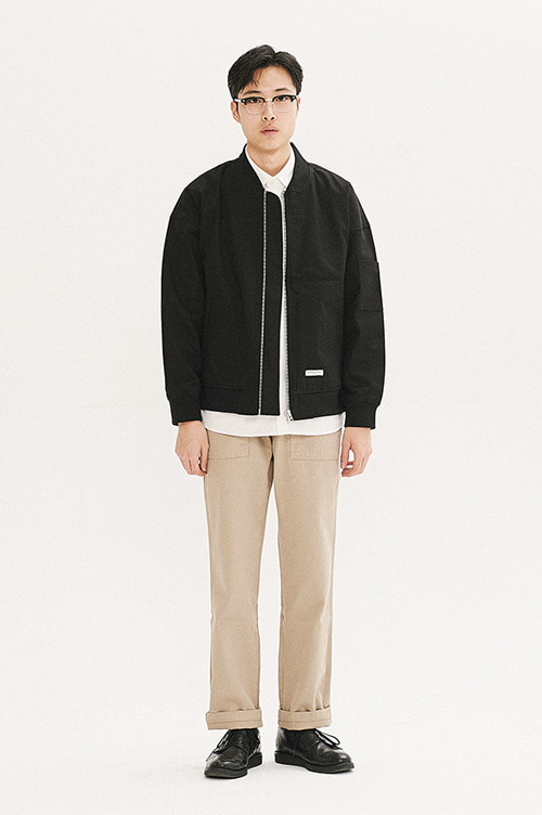 Oversized Blouson Jacket [Black]