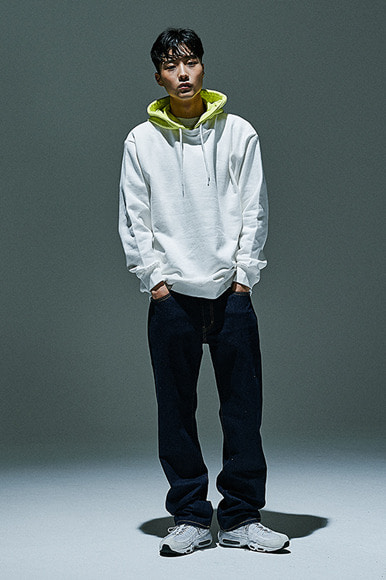 Neon Hooded Sweatshirt [Ivory/Citron]