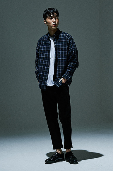 (10월 1일 예약배송) HBT Check Shirts [Navy]