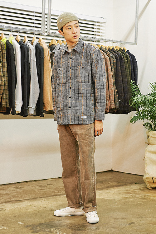 Glen Check Shirts [Beige]