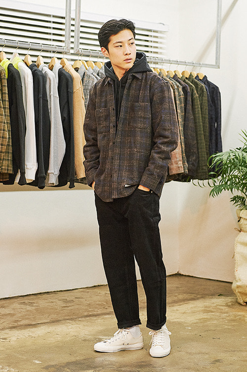 Delicate Check Shirts [Brown]