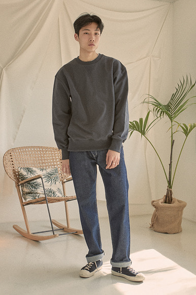 Classic Sweat Shirts [Charcoal] (2월 21일 예약 발송)