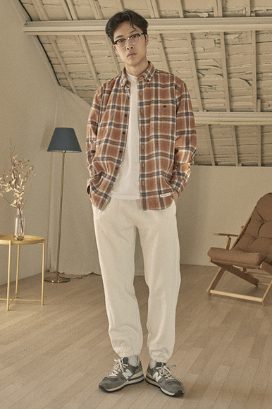 Easy PK Check Shirts [Brown]