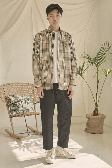 Easy PK Check Shirts [Beige]