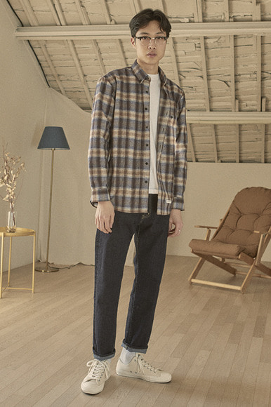 Easy PK Check Shirts [Violet]