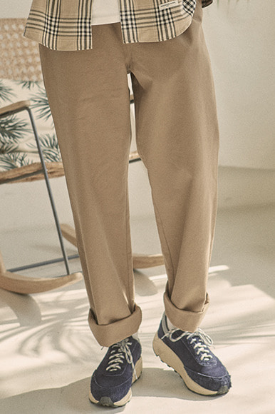 Easy Wide Pants [Beige]