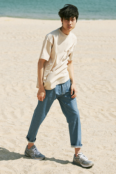 Sealion Single Pocket T-Shirts [Beige]