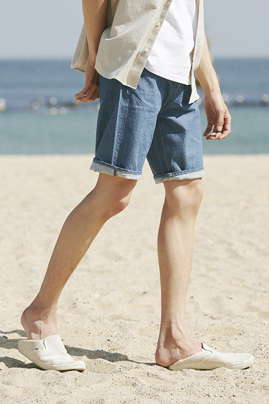 Selvage Easy Shorts [Ocean Blue]