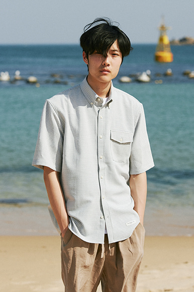 (5/23 예약 발송)Block Check Shirts [Grey]