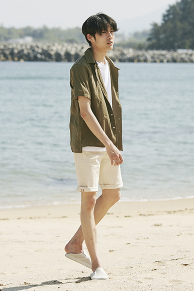 Cupra Open Collar Shirts [Khaki]