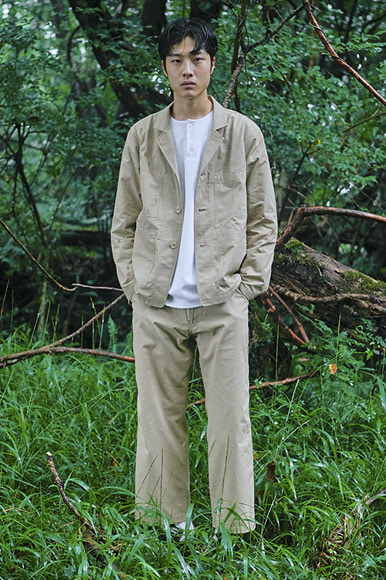 Rip-Stop Set Up Jacket [Beige]