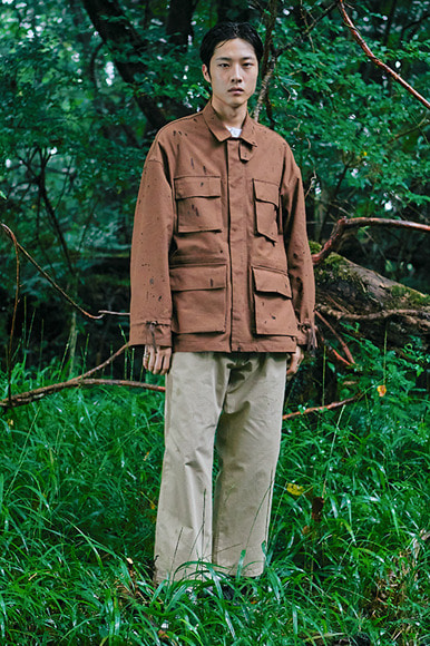 Multi Slab Safari Jacket [Brown]