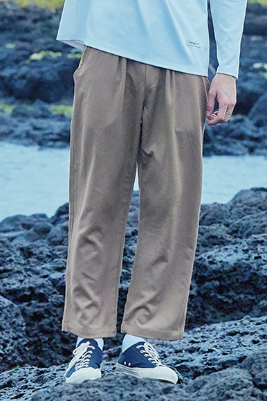 Rational One Tuck Easy Pants [Beige]
