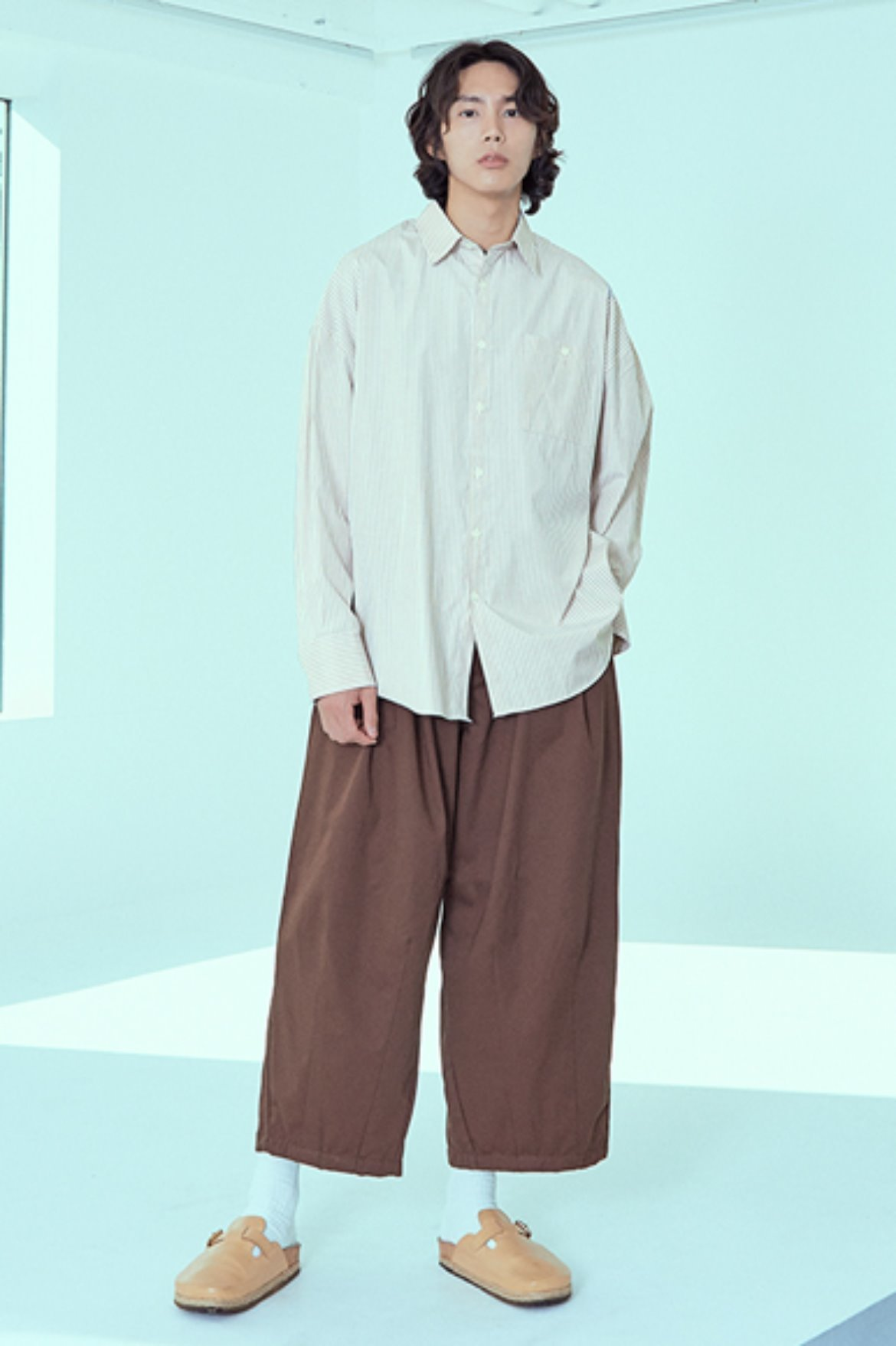 Tencel Balloon Pants [Brown]