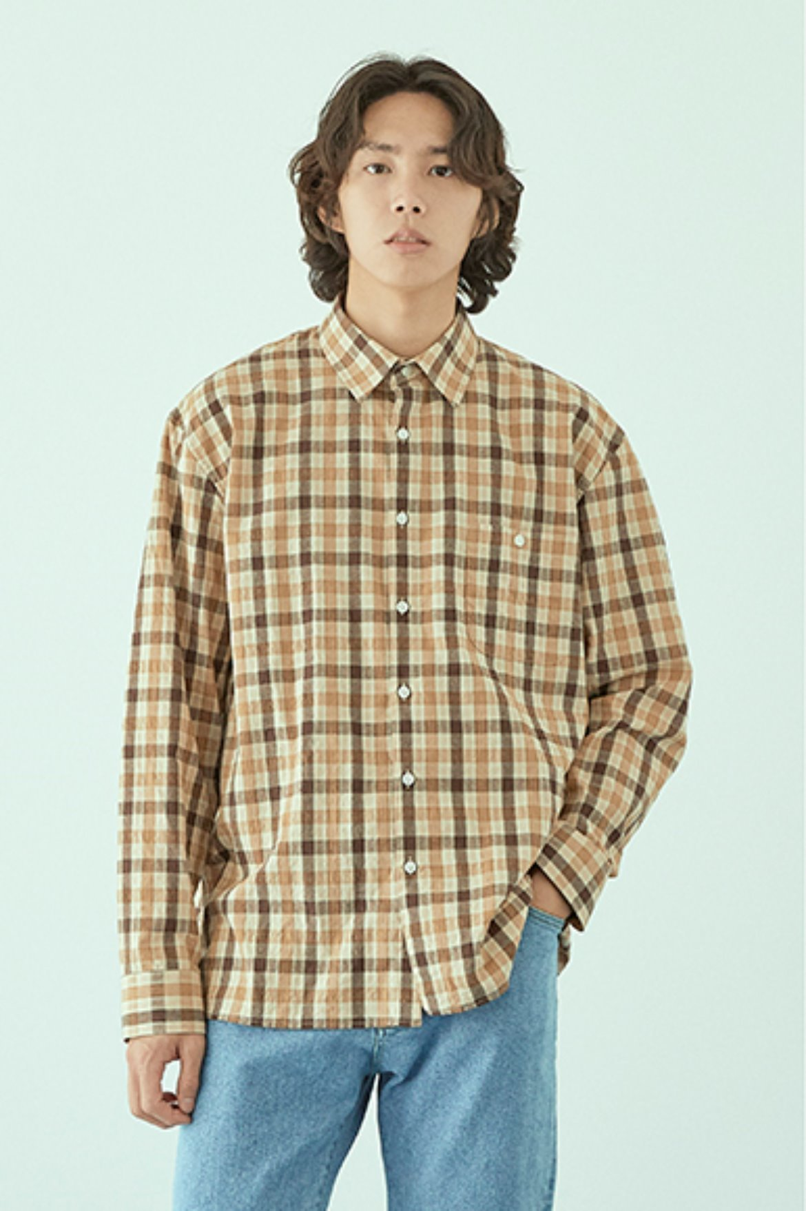 Box Gingham Check Shirts