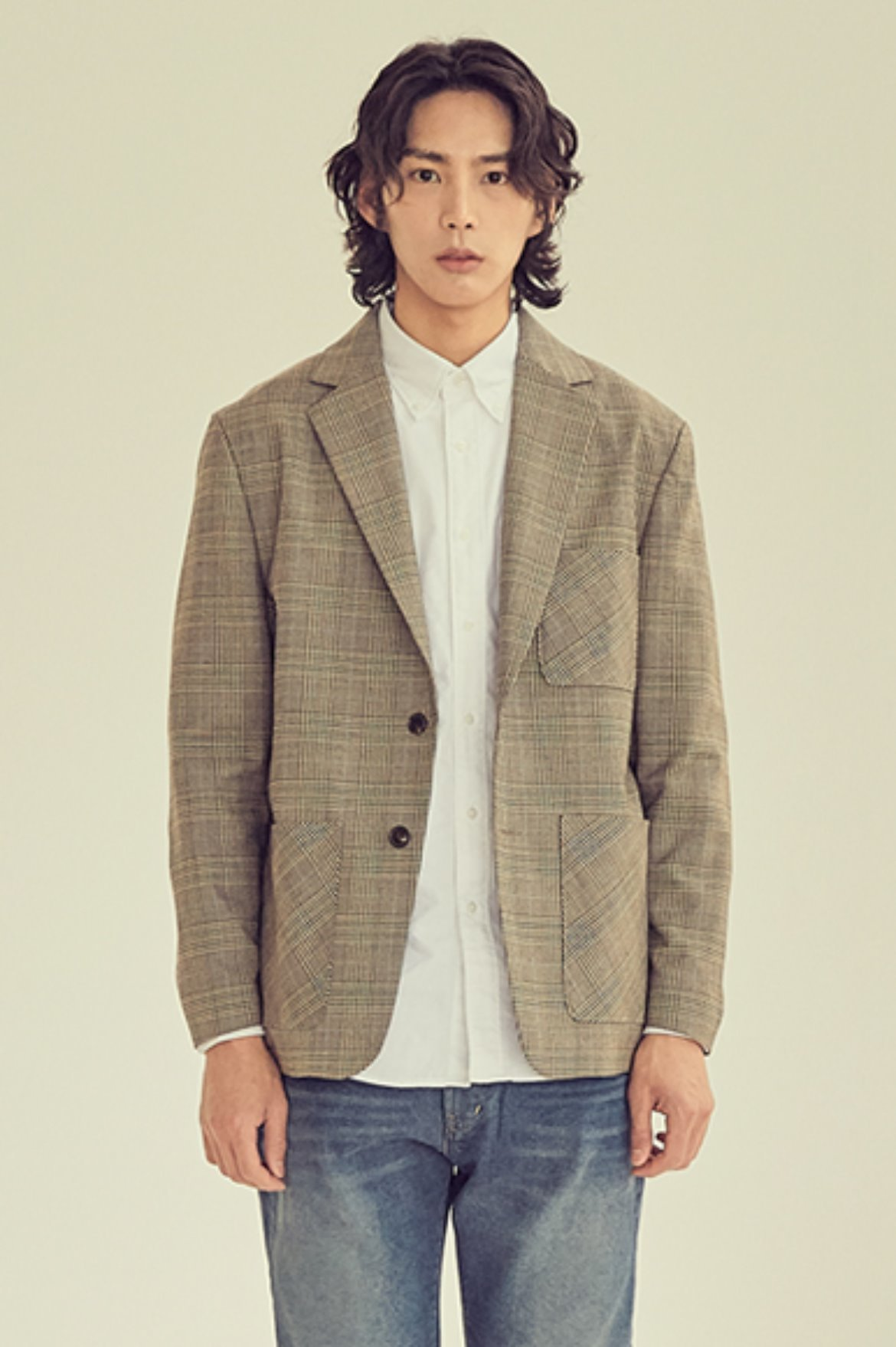 Two Button Check Jacket [Glen Check]