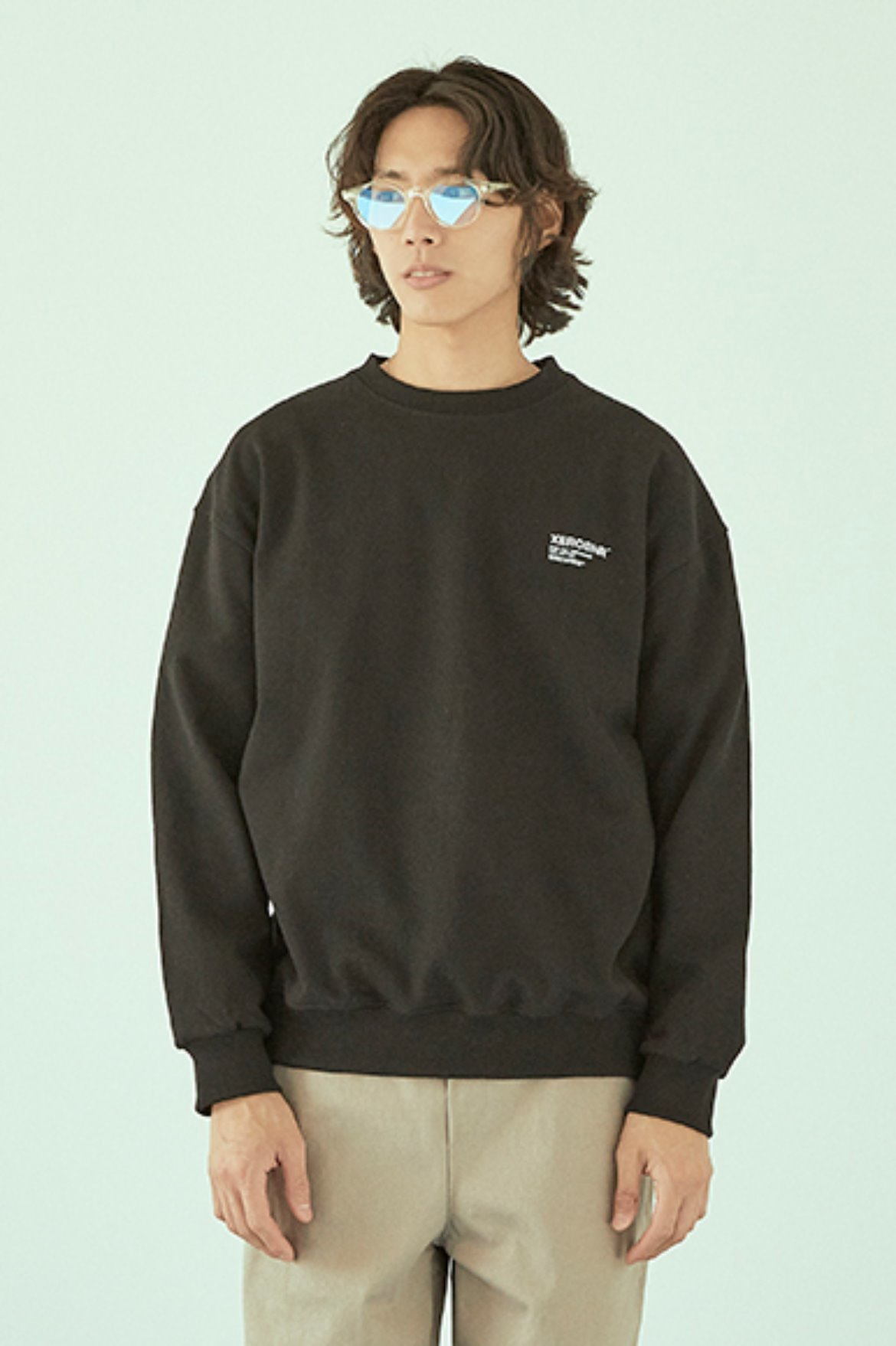 Easy Logo Sweat Shirts [Black]