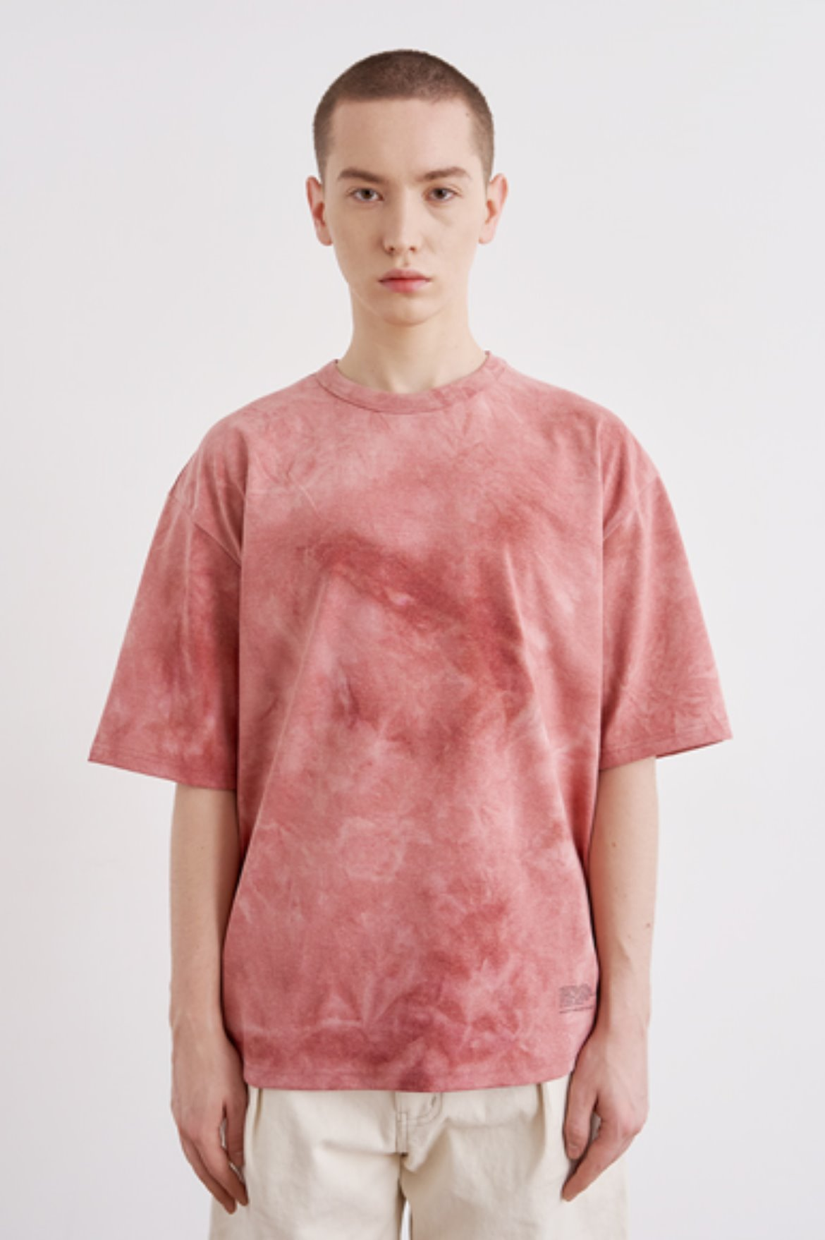 Oversize Water Washed T-Shirts [Coral Red]